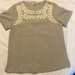 Madewell ivy embroidered top